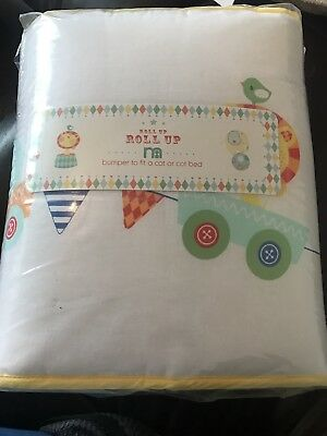 Brand New Mothercare Roll up Bumper For A Cot Or A Cot Bed