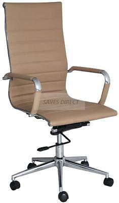 aspera 10 executive office nappa leather brown. High Back Ribbed Designer Executive Leather Office Chair Computer Furnitur Brown Aspera 10 Nappa