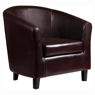 Bonded Leather Tub Chair Armchair for Dining Living Room Office Reception K1603
