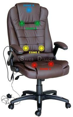 Executive Reclining Leather Massage Office Chair with Multi-Mode 7 Point Massage