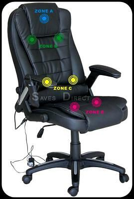 Luxury Leather Computer Study Reclining Office Chair with 7 Point Massage K8901D