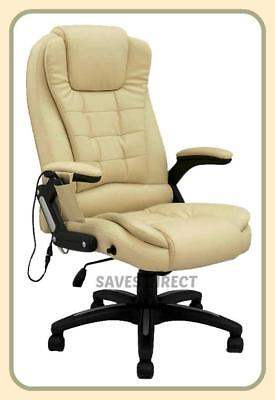 Executive Reclining Bonded Leather With 8 Mode Massage Office Study Chair k8901A