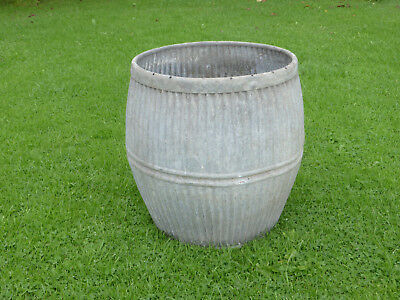 Dolly/Peggy Tub-  Vintage Orig British not Repro. Ideal Planter. Double Band.