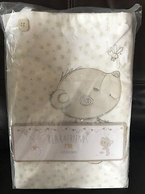 Mothercare Bear And Friends Pack Of 2 Cot Pockets Brand New