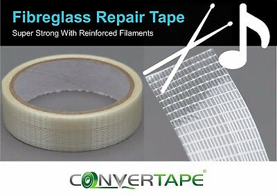 Drum Stick Repair Tape 10m Drumstick - Super Strong Glass Fibre 25mm x 10m