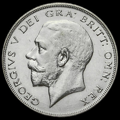 1926 George V Silver Half Crown, Second Coinage, Rare