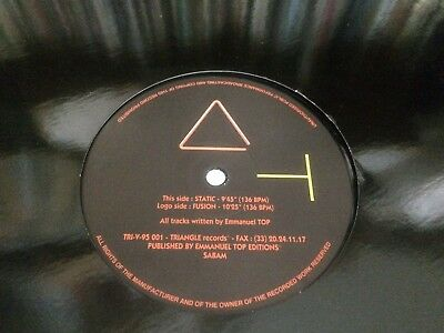 "Emmanuel Top Static ~ Fusion  Triangle Records Import  12"" Bk"