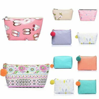 Make-Up Bag Vintage Print Pouch Cosmetic Toiletry Case Travel Bag Handbag Makeup