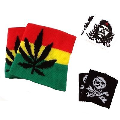 Boys Pirate Skull Cannabis-Leaf Sweatbands Wristbands Bracelet Party Bag Filler