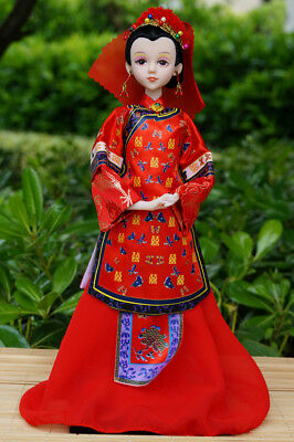 Handmade Asian Chinese Doll Lady Bridegroom Figurine Doll wedding cloth