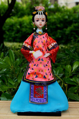 Handmade Asian Chinese Doll Lady Headwear Beauty Girl Figurine Doll