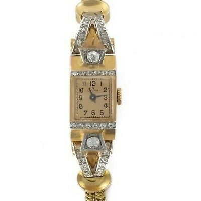 Armbanduhr Oméga Golden Diamanten