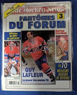 """NHL MONTREAL CANADIENS HOCKEY NEWS FRENCH EDITION 1996 """"Fantomes du Forum"""" 3of 4"""
