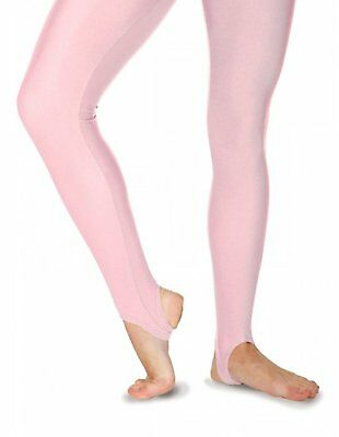DARK BLUE Dance Stirrup Tights AGE 10-12 Thick SHINY Nylon Lycra Girls Tap Yoga