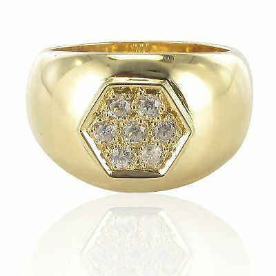 Ring rush gold diamonds wide Ring