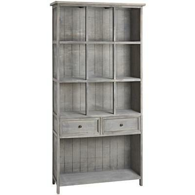 French Shabby Chic Tall Bookcase Bookshelf Book Shelves Unit Cabinet Furniture