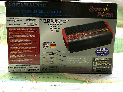 Stering Power PSP12203 Aquanautic Waterproof Battery charger