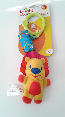 2 New Development Bright Start Grab Spin Rattle Baby Teether Shaker sensory Toy