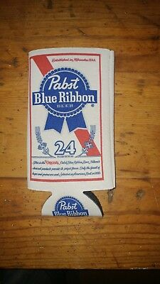 Pabst Blue Ribbon PBR Beer Koozie 24 oz Tall Can Cooler Coozie