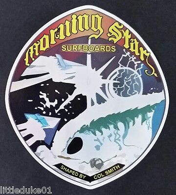 MORNING STAR 1970s Surfboard Manufacturer NSW Sticker Decal LONGBOARD Surfing