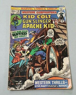 Marvel Comics Book Kid Colt Outlaw No. 18 Oct Western Gunfighters / Apache Kid