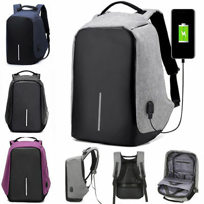 Anti-Theft Water Repellent Backpack USB Port XD Bobby Camera Laptop School Bag