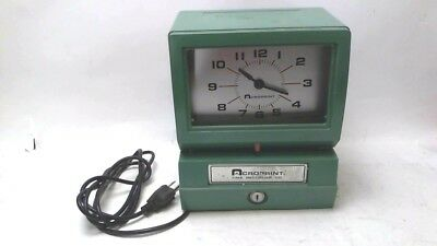 Acroprint 150NR4 Electric Print Time Clock Recorder Stamp