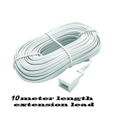5 meter Telephone BT Fully wired  Extension Cable (UK phone Extend lead)