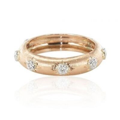 Ring gold pink satined diamonds Ring
