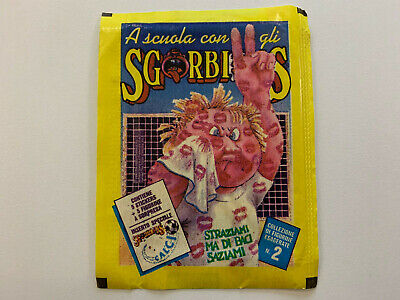 1990 Italy Garbage Pail Kids SGORBIONS 2nd Series WRAPPER