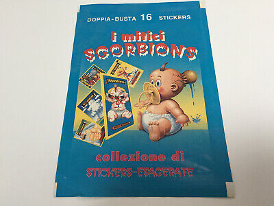 1989 Italy Garbage Pail Kids I Mitici SGORBIONS WRAPPER