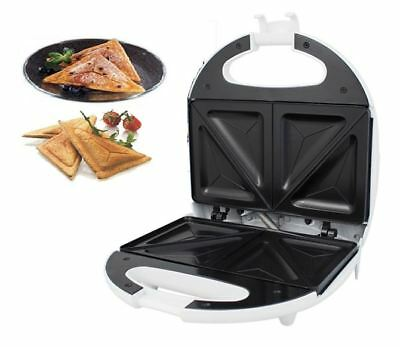 New White Electric Warm Sandwich Toast Toaster Maker 700W Non Stick Kitchen