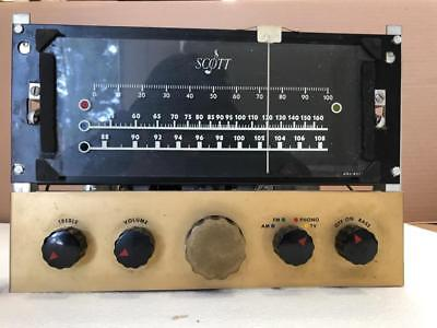 E. H. Scott Radio Model 510 AM/FM Tuner Chrome Chassis original Tubes