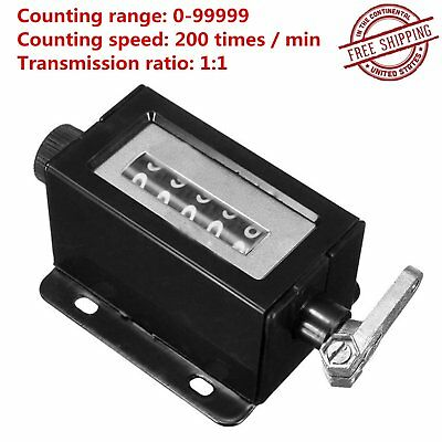 D67-F Black Casing 5 T1gits Mechanical Pull Stroke Counter Free Shipping ZP