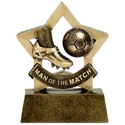Man of The Match football Trophy mini star. *Free Engraving*.