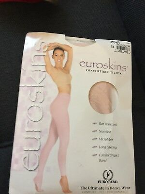 Euroskins Convertible Tights By Eurotard Theatrical Pink S/m Dance Wear