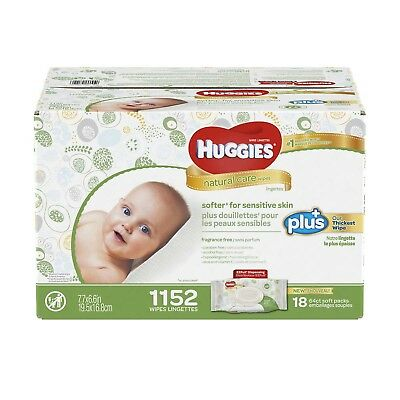 Huggies Natural Care Plus Baby Wipes 1152-count