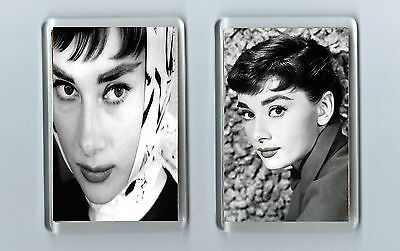 Magnets x 2 : AUDREY HEPBURN Film Actress