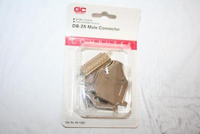 DB-25 Male Connector Solder Contacts Fully Shielded Housing GCE 45-1080