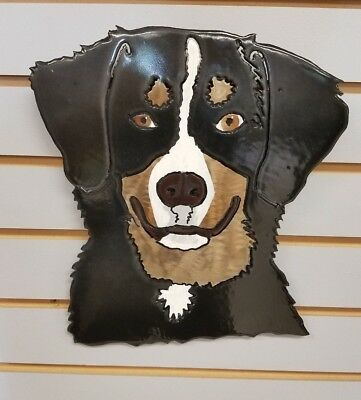 Bernese Mt. Dog Face Steel Wall Art