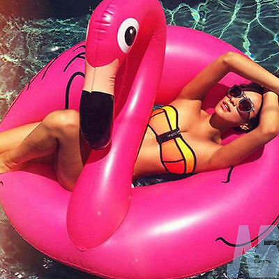 Giant Inflatable Flamingo Rubber Ring Pool Float Lilo Toys. UK STOCK ON SALE NOW