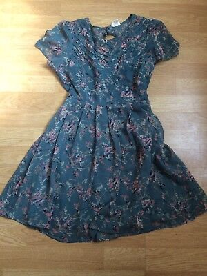 Urban Outfitters Blue/green Tea Dress Size 8/10/12 M
