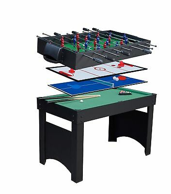 Childrens 4ft Table Tennis Table 4-in-1 with Pool, Football & Hockey Gamesson
