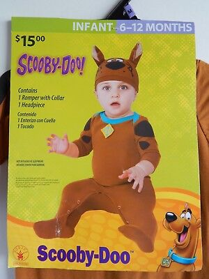 Baby Halloween NEW 2-piece Costume SCOOBY-DOO infant size 6-12 months by Rubie's