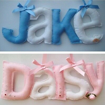 Personalised  door Plaque letters baby name  nursery girl boy christening gift