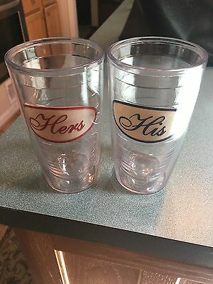 TERVIS TUMBLERS HIS AND HERS 16OZ CUPS, free shipping