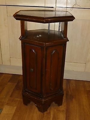 Antique French Wooden Hexagonal Bedside Cabinet