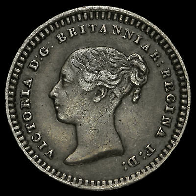 1843 Queen Victoria Young Head Silver Three-Halfpence, GVF