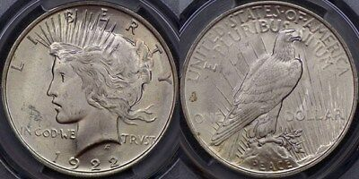 United States of America, 1922 Peace Dollar - PCGS MS64+