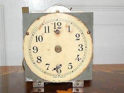 Antique French Clock Timepiece Movement For Spares Or Repair